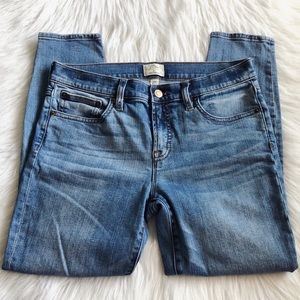 J Crew Petite Toothpick Jean in Ogden Wash Size 28